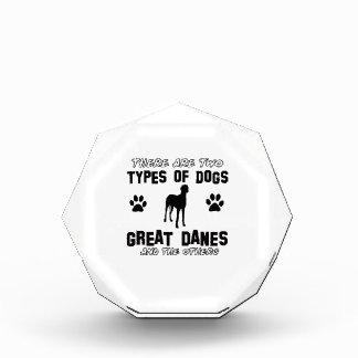 Great dane dog Designs Acrylic Award