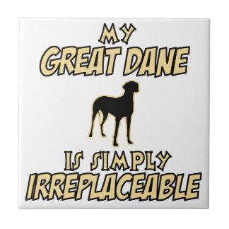 great dane DOG designs Tile
