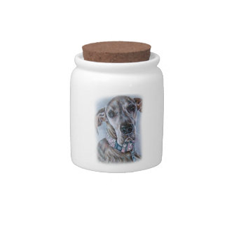 Great Dane Dog Drawing Design Candy Dish