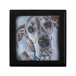 Great Dane Dog Drawing Design Gift Box