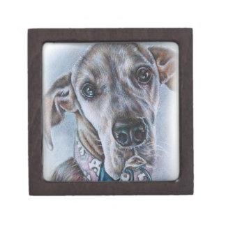 Great Dane Dog Drawing Design Jewelry Box