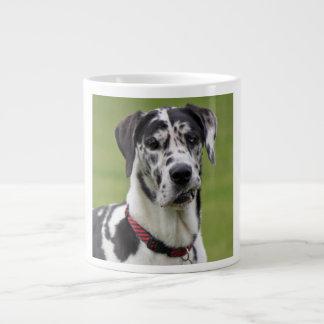 Great Dane dog harlequin beautiful photo, gift Large Coffee Mug