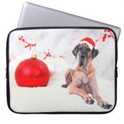 Neoprene Laptop Sleeve 15' with Great Dane Phone Cases design