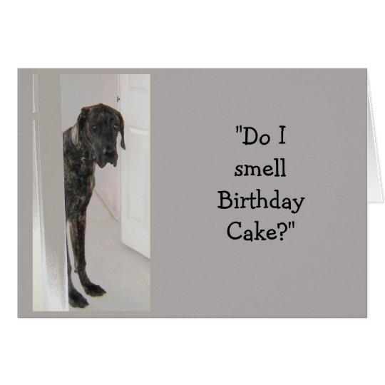 Great Dane Birthday Cake