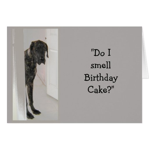 Great Dane Dog Humor Birthday...