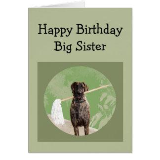 Great Dane Dog Humor for Birthday Big Sister Fun Card