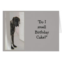 Great Dane Dog Humor Mom Birthday Cake Fun Card