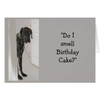 Great Dane Dog Humor Mom Birthday Cake Fun Card