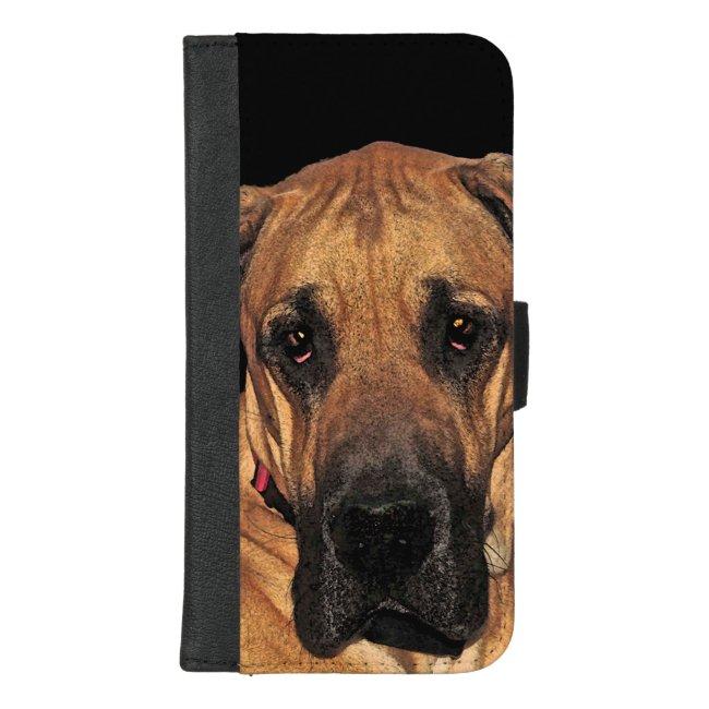 Great Dane Dog iPhone 8/7 Plus Wallet Case
