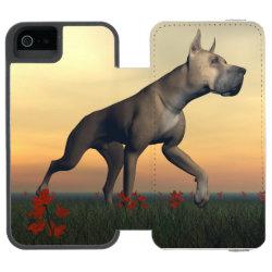 Incipio Watson™ iPhone 5/5s Wallet Case with Great Dane Phone Cases design
