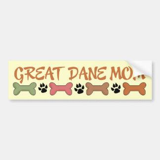 Great Dane Dog Mom Bumper Sticker Car Bumper Sticker