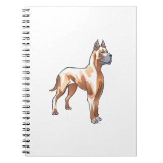 GREAT DANE DOG SPIRAL NOTEBOOK
