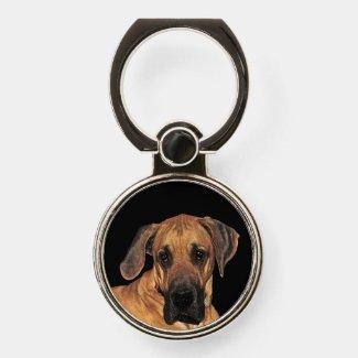 Great Dane Dog Phone Ring Holder