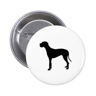 Great Dane dog silhouette Button
