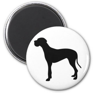 Great Dane dog silhouette Magnet