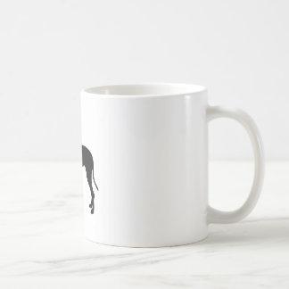 Great Dane dog silhouette Mug