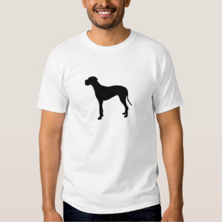 Great Dane dog silhouette T Shirt