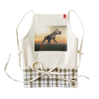 Great dane dog zazzle HEART apron