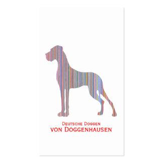 Great dane en colores en colores pastel tarjetas de visita