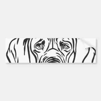 Great Dane Face Car Bumper Sticker