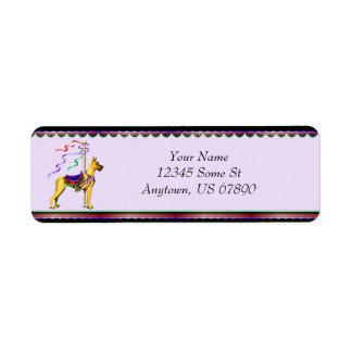 Great Dane Fawn Carousel Labels