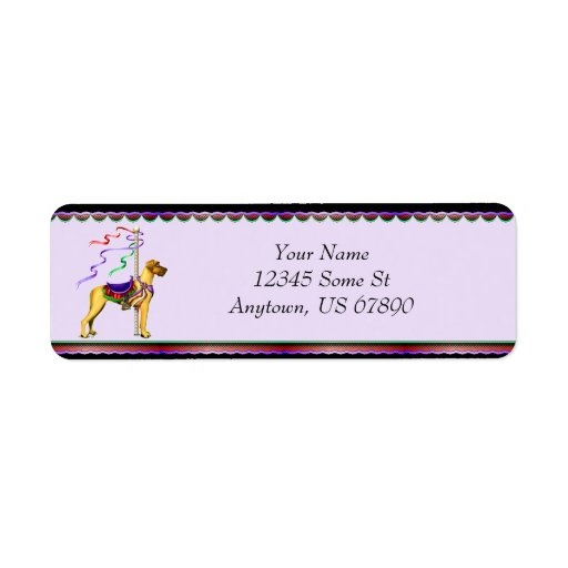 Great Dane Fawn Carousel UC Labels