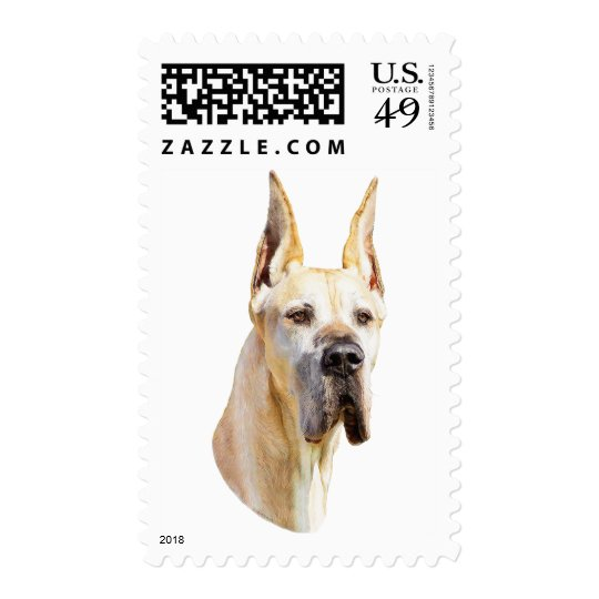 Great Dane Fawn Cropped Postage
