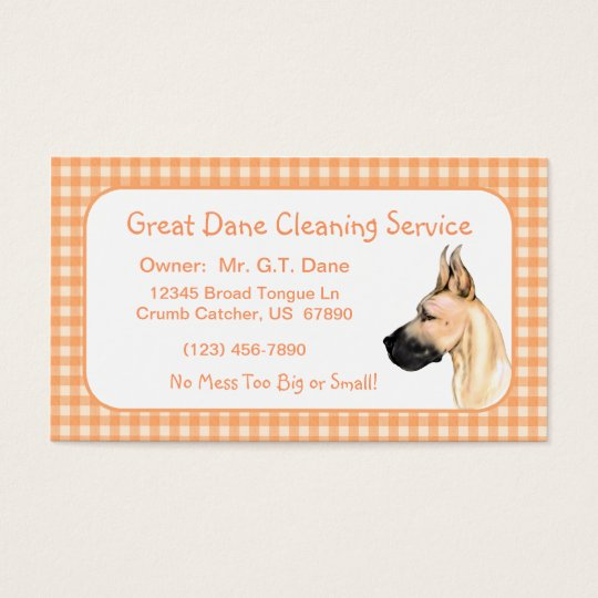 Great Dane Fawn Fem Business Cards