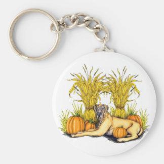 Great Dane Fawn Harvest UC Basic Round Button Keychain