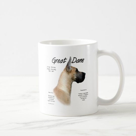 Great Dane (fawn) History Design Coffee Mug