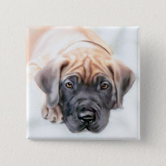 Great Dane Fawn Ransom Pup Pinback Button