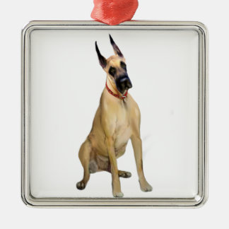 Great Dane - Fawn Sit 1 Metal Ornament