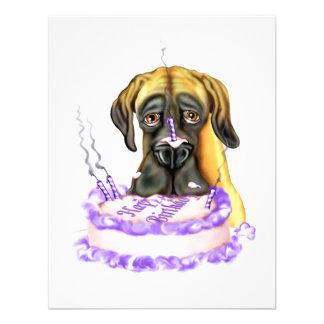 Great Dane Fawn UC Birthday Cake Custom Invites