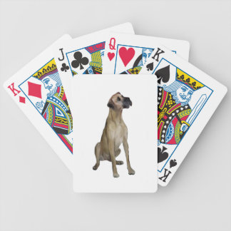 Great Dane - FawnSit - natural ears Deck Of Cards
