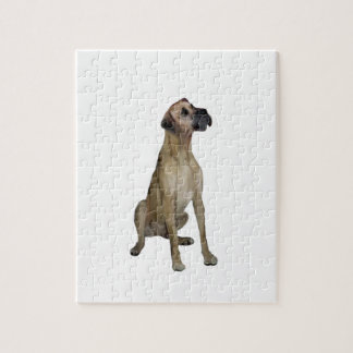 Great Dane - FawnSit - natural ears Jigsaw Puzzles