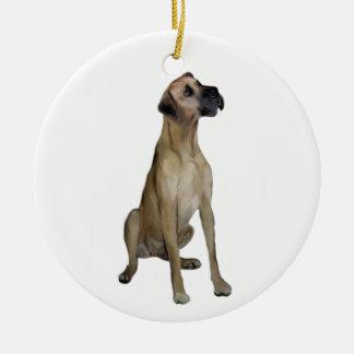 Great dane - FawnSit - oídos naturales Adornos De Navidad