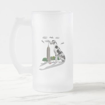 Beach Themed Great Dane Frosted Glass Beer Mug