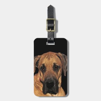 Great Dane Gentle Giant Luggage Tag