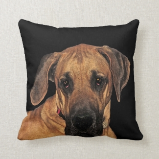 Great Dane Gentle Giant Throw Pillow