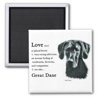 Great Dane Gifts 2 Inch Square Magnet