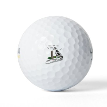 Beach Themed Great Dane Golf Balls