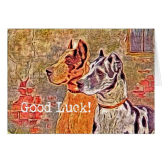 Great Dane, Good Luck! Greeting Card