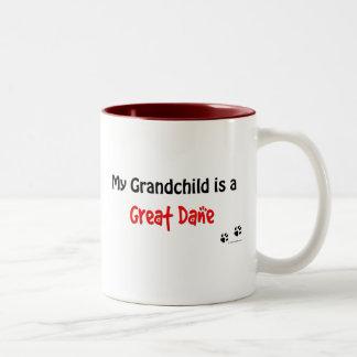 Great Dane Grandchild Two-Tone Coffee Mug