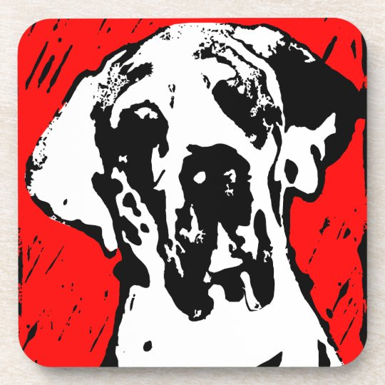 Great dane graph IC Drink Coaster