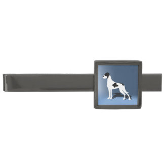 Great Dane Gunmetal Finish Tie Clip