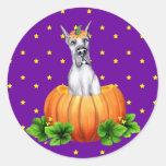 Great Dane Halloween Blue Dane-O-Lantern Sticker