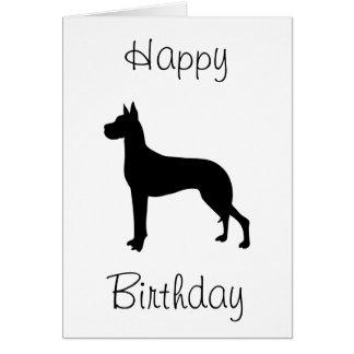 Great Dane Happy Birthday Card