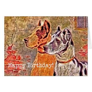 Great Dane, Happy Birthday Card