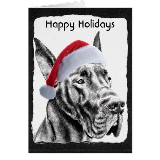 "Great Dane ""Happy Holidays"" Greeting Card"