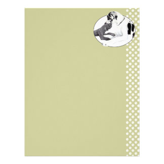 Great Dane Harle & Black Whisper Personalized Letterhead